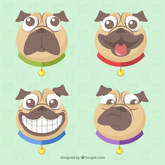 Funny pack de visages roquets modernes