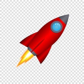 Fusée de dessin animé 3d