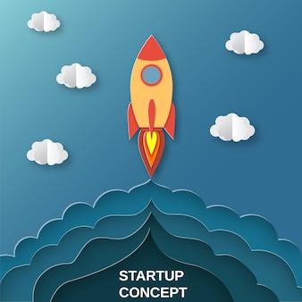 Fusée pour un projet d'entreprise en démarrage