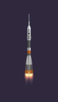 Fusée spatiale en icône de l'univers