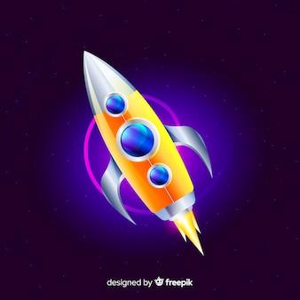 Fusée spatiale moderne au design réaliste