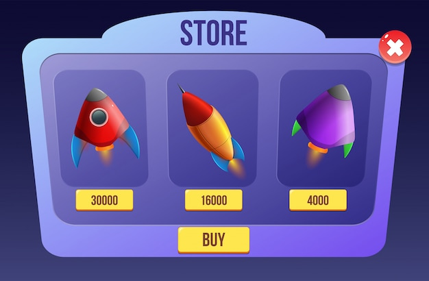 Fusée spatiale pour jeux de science-fiction