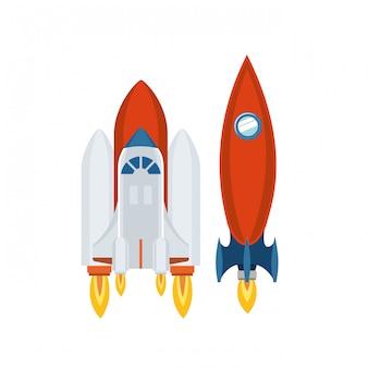 Fusées décollant isolé