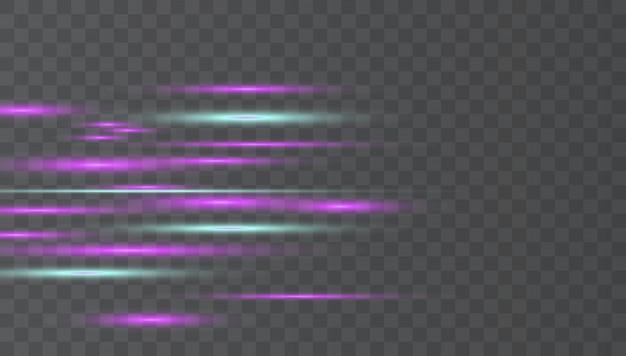 Fusées éclairantes horizontales bleues