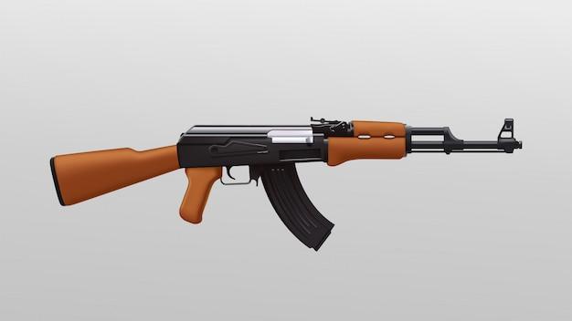 Fusil d'assaut coloré