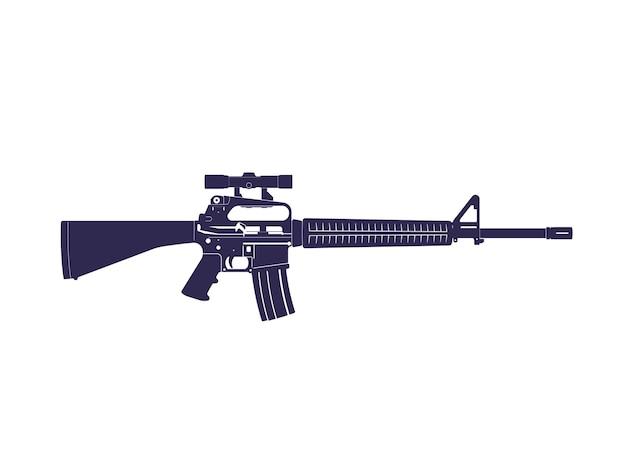 Fusil d'assaut, pistolet automatique avec lunette optique