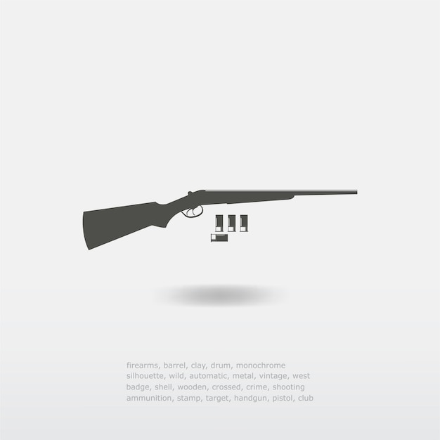 Fusil de chasse avec illustration de balles