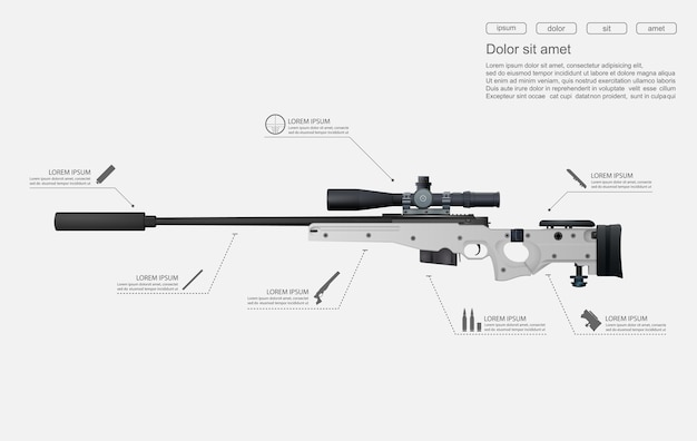 Fusil de fusil de sniper