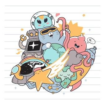 Futur chat doodle