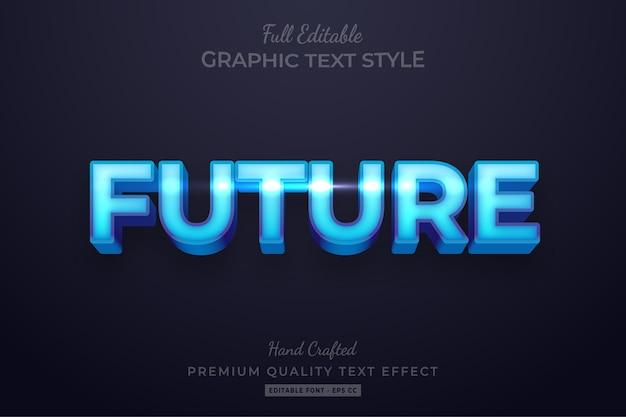Futur effet de style de texte personnalisé modifiable premium