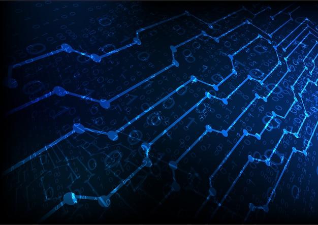 Futur fond de technologie abstraite