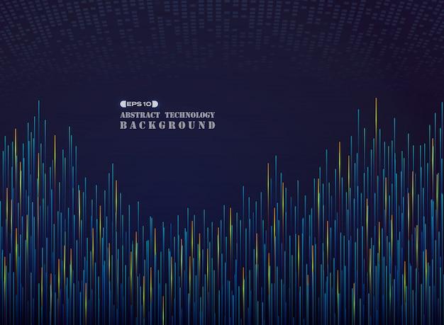 Futuriste de grande science en motif de ligne bleu chaud tome