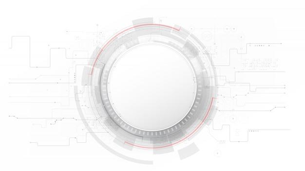 Futuriste et gris technologie avec un fond abstrait blanc