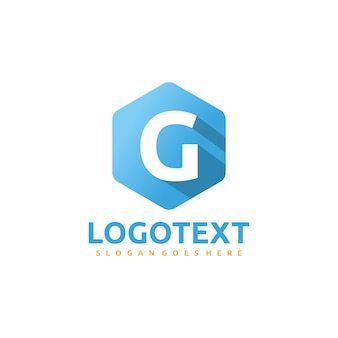 G lettre -hexagonal logo