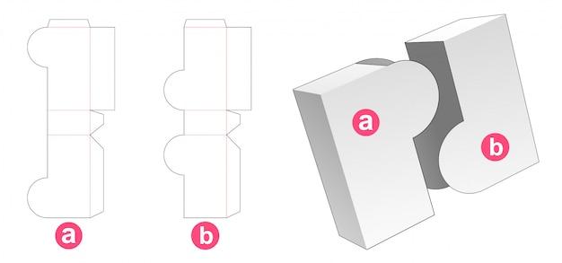 Gabarit de découpe de boîte de 2 pièces