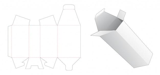 Gabarit découpé en boîte d'emballage trapézoïdal