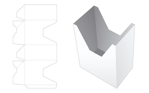 Gabarit de découpe de boîte en forme de u