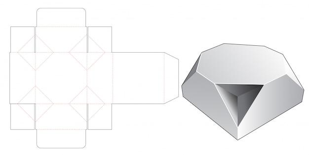 Gabarit découpé en boîte octogonale chanfreinée