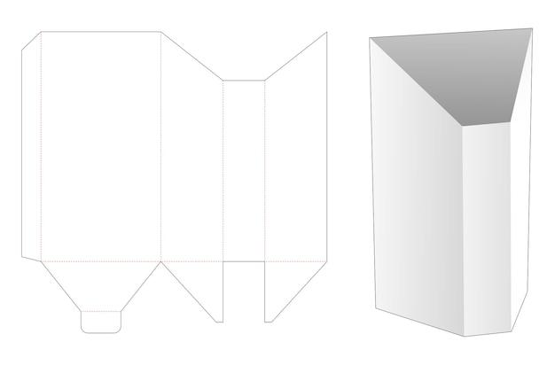 Gabarit de découpe de boîte de papeterie en forme de prisme