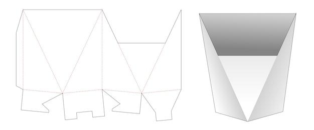 Gabarit de découpe de boîte de papeterie de forme triangulaire