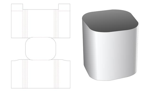 Gabarit de découpe de boîte de papeterie ronde conner