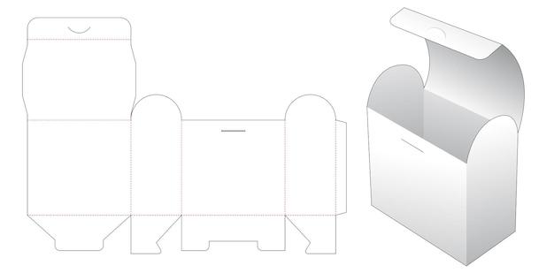 Gabarit de découpe de boîte à rabat supérieur