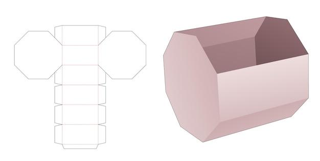 Gabarit de découpe de bol octogonal