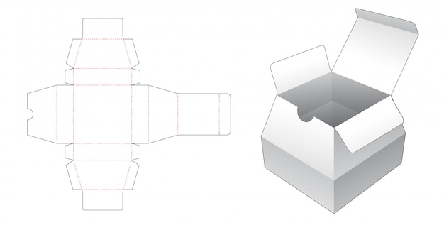 Gabarit de découpe en carton de forme trapézoïdale