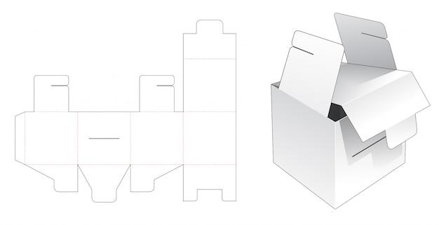 Gabarit découpé avec emballage carré