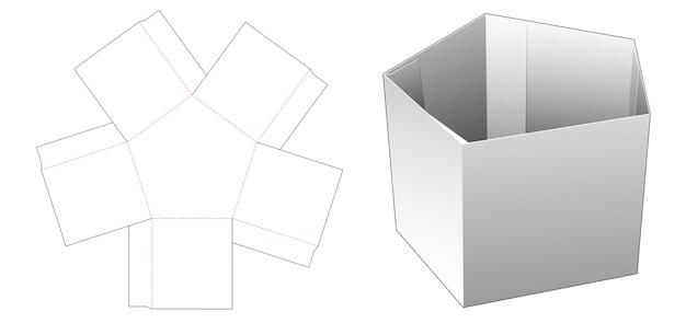 Gabarit découpé à l'emporte-pièce en forme de pentagone