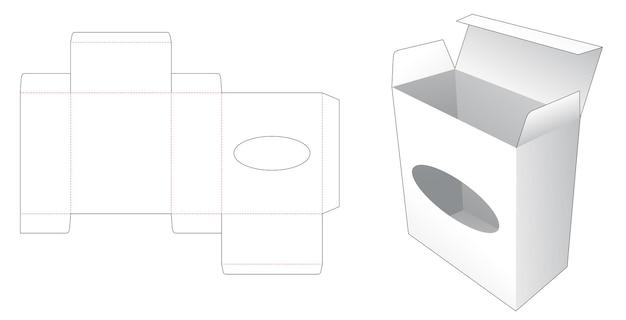 Gabarit de découpe de fenêtre en forme de boîte et d'ellipse