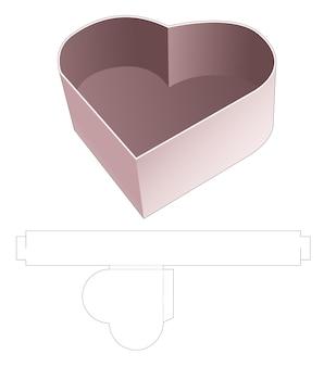 Gabarit de découpe de plateau en forme de coeur