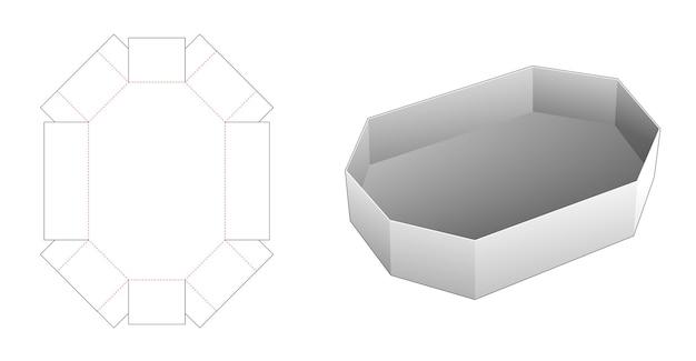 Gabarit de découpe de plateau de forme octogonale