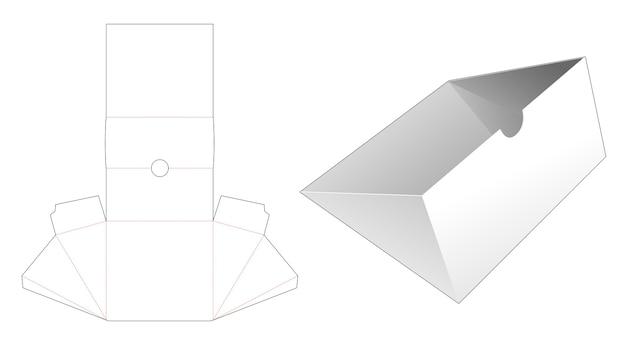 Gabarit de découpe de plateau de forme triangulaire