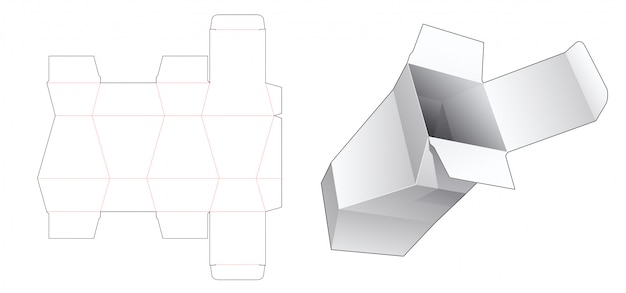 Gabarit découpé polygonale pour boîte d'emballage