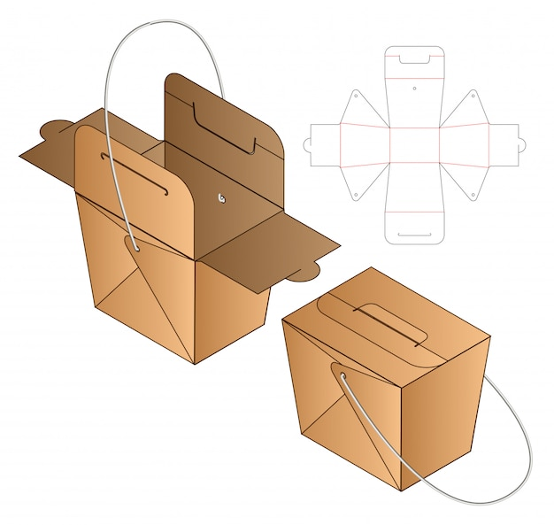 Gabarit découpé pour emballage de boîte
