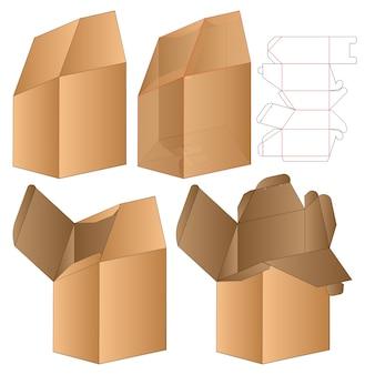 Gabarit de découpe pour emballage de boîte