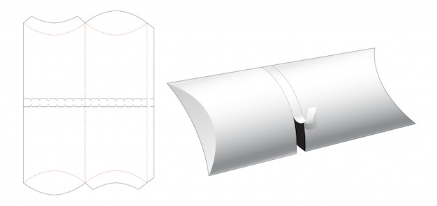 Gabarit de découpe pour emballage de récipient