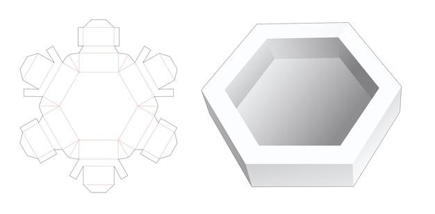Gabarit de découpe pour plateau hexagonal