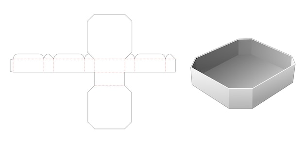 Gabarit de découpe pour plateau rectangulaire chanfreiné