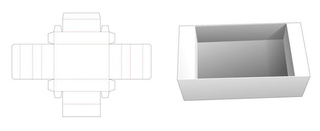 Gabarit de découpe pour plateau rectangulaire