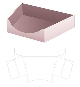 Gabarit de découpe pour plateau trapézoïdal en carton