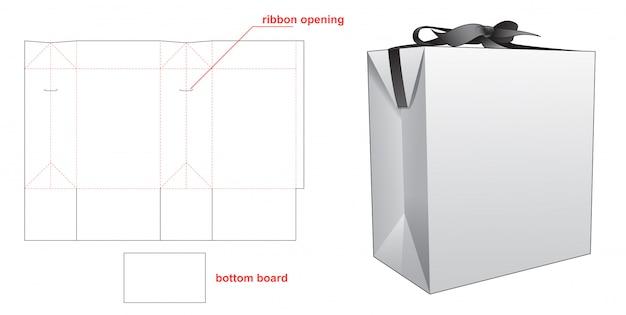 Gabarit de découpe pour sac d'emballage cadeau