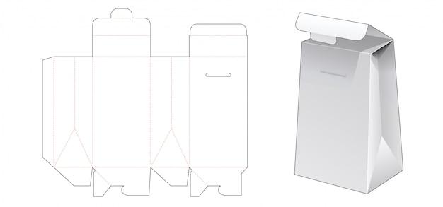 Gabarit de découpe pour sac d'emballage en carton