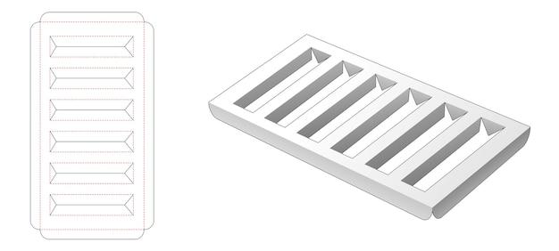 Gabarit de découpe pour support d'insertion en carton