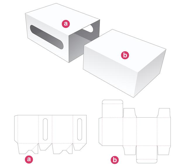 Gabarit de découpe simple boîte et couvercle