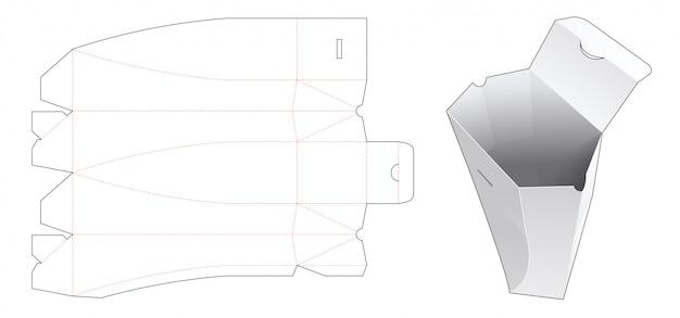 Gabarit découpé sous emballage plié