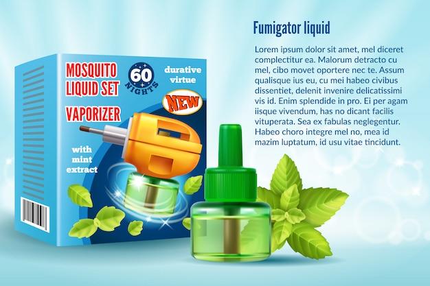 Gabarit d'emballage liquide pour moustiques.