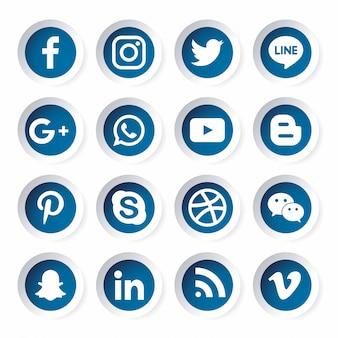 Gabarit d'icône de médias sociaux.