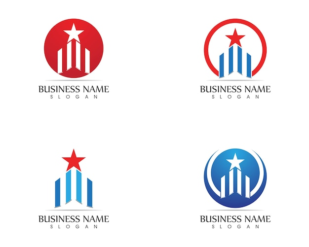 Gabarit d'icônes logo immobilier et immobilier
